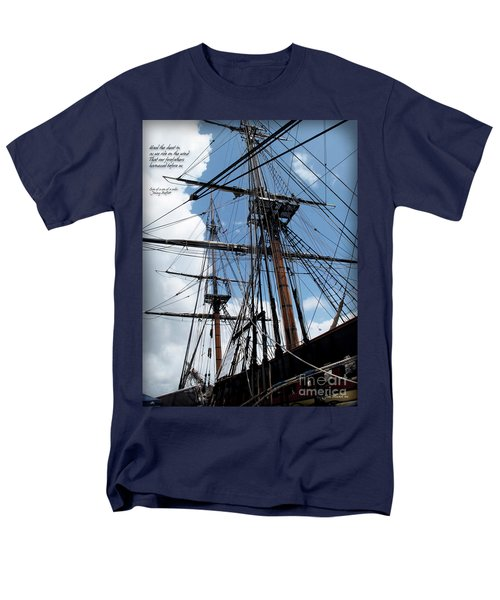 Son Of A Son Of A Sailor Quote - Tribute To The Bounty Men's T-Shirt  (Regular Fit) by Joan  Minchak