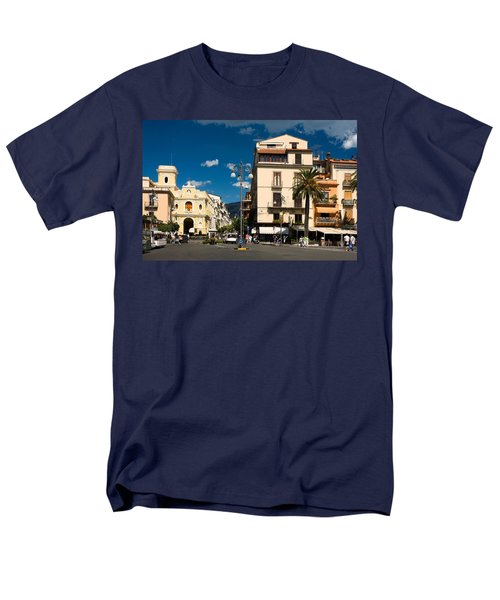 Sorrento Italy Piazza Men's T-Shirt  (Regular Fit) by Sally Weigand