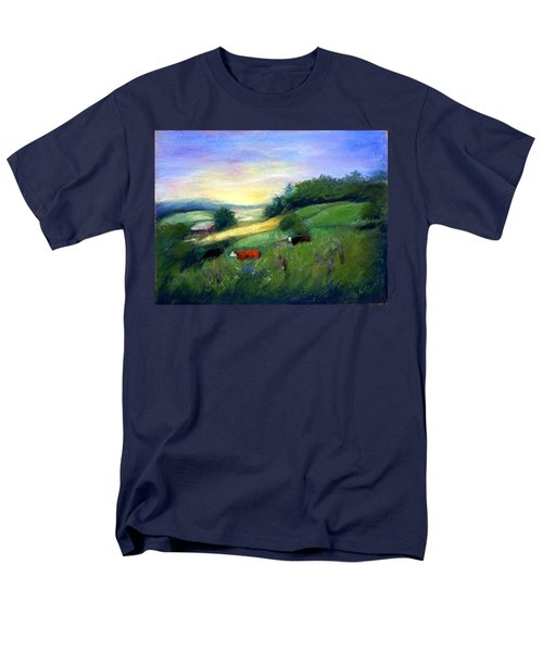 Men's T-Shirt  (Regular Fit) featuring the painting Southern Ohio Farm by Gail Kirtz
