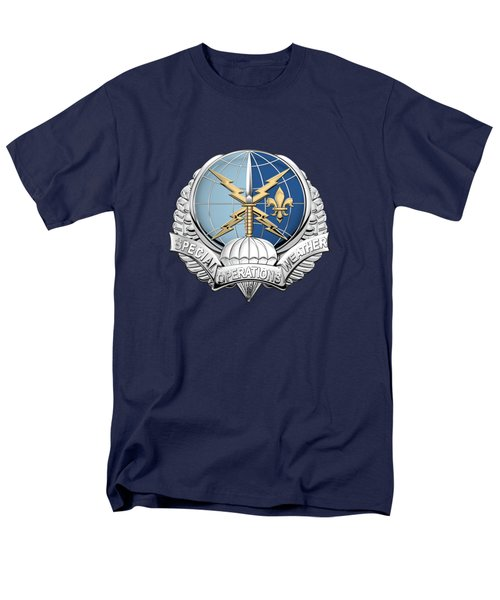 Special Operations Weather Team -  S O W T  Badge Over Blue Velvet Men's T-Shirt  (Regular Fit) by Serge Averbukh