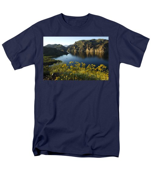Spring Morning At The Lake Men's T-Shirt  (Regular Fit) by Sue Cullumber