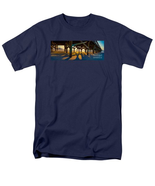 Springmaid Pier At Sunrise Men's T-Shirt  (Regular Fit) by David Smith