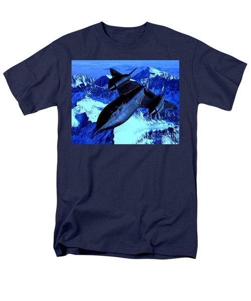 Men's T-Shirt  (Regular Fit) featuring the photograph Sr71 Mountain Climber by Greg Moores