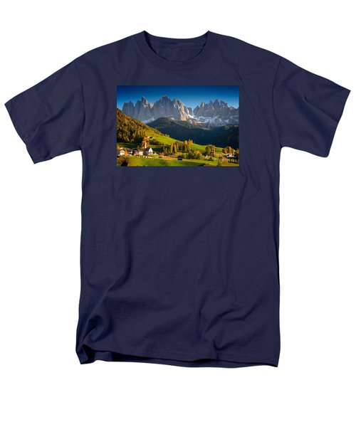 St. Magdalena Alpine Village In Autumn Men's T-Shirt  (Regular Fit)