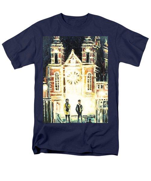 St Nicolaaskerk Church Men's T-Shirt  (Regular Fit) by Linda Shackelford