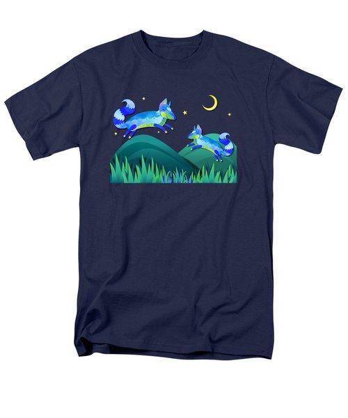 Starlit Foxes Men's T-Shirt  (Regular Fit) by Little Bunny Sunshine