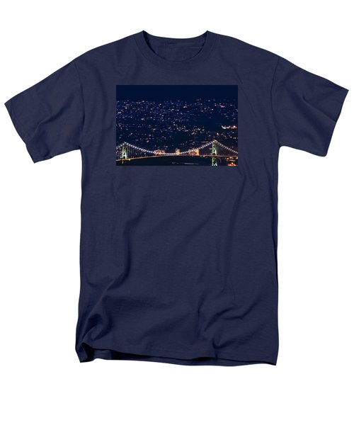 Men's T-Shirt  (Regular Fit) featuring the photograph Starry Lions Gate Bridge - Mdxxxii By Amyn Nasser by Amyn Nasser