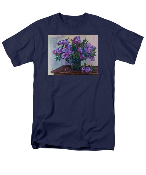 Still Life With Lilac  Men's T-Shirt  (Regular Fit) by Maxim Komissarchik