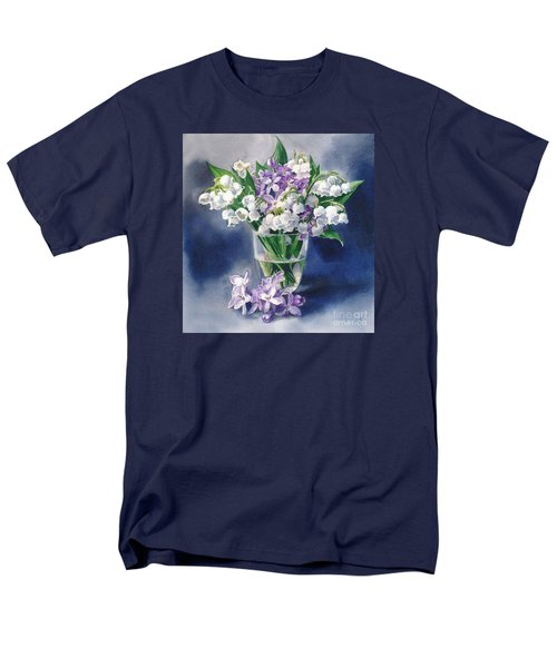 Still Life With Lilacs And Lilies Of The Valley Men's T-Shirt  (Regular Fit) by Sergey Lukashin