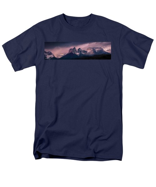 Men's T-Shirt  (Regular Fit) featuring the photograph Storm On The Peaks by Andrew Matwijec