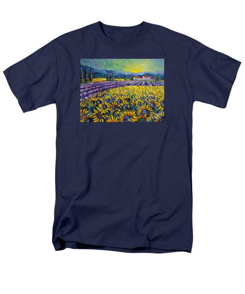 Sunflowers And Lavender Field - The Colors Of Provence Men's T-Shirt  (Regular Fit)