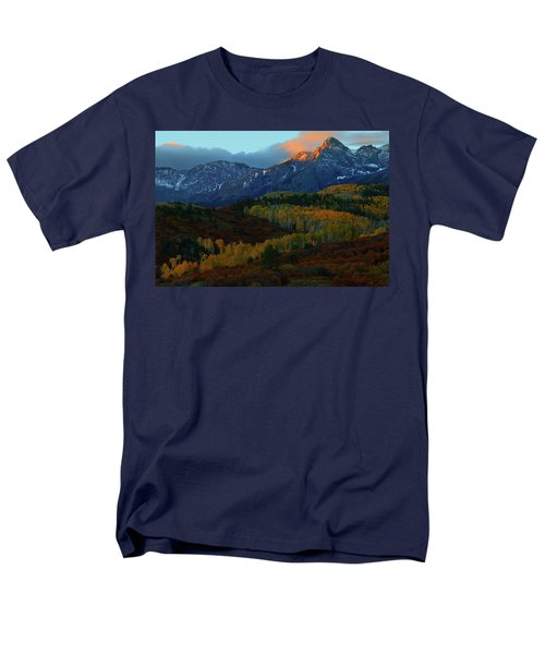 Men's T-Shirt  (Regular Fit) featuring the photograph Sunrise At Dallas Divide During Autumn by Jetson Nguyen