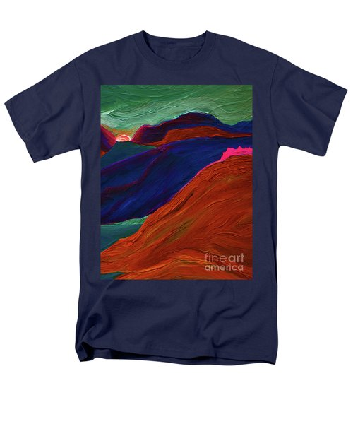 Men's T-Shirt  (Regular Fit) featuring the painting Sunrise Castle 2  by First Star Art