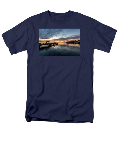 Men's T-Shirt  (Regular Fit) featuring the photograph Sunrise Less Davice Pier by Rob Green