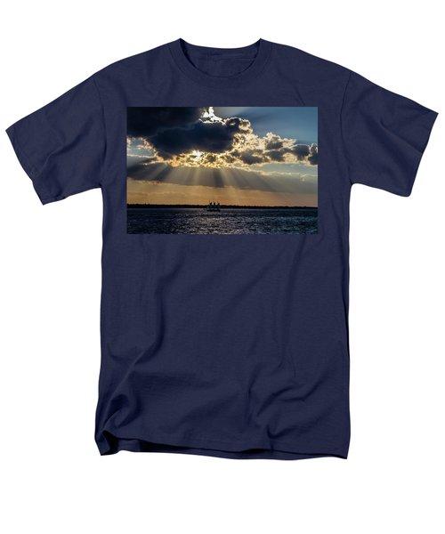 Sunset And A Three Masted Schooner Men's T-Shirt  (Regular Fit) by Menachem Ganon