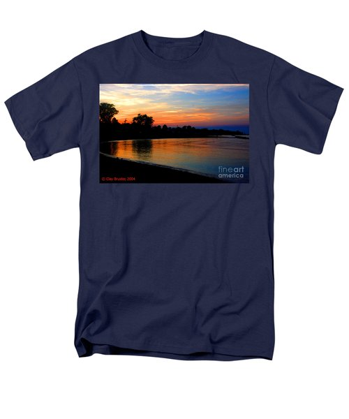 Sunset At Colonial Beach Cove Men's T-Shirt  (Regular Fit) by Clayton Bruster