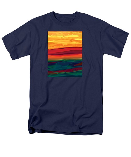 Men's T-Shirt  (Regular Fit) featuring the digital art Sunset In Ottawa Valley 1 by Rabi Khan