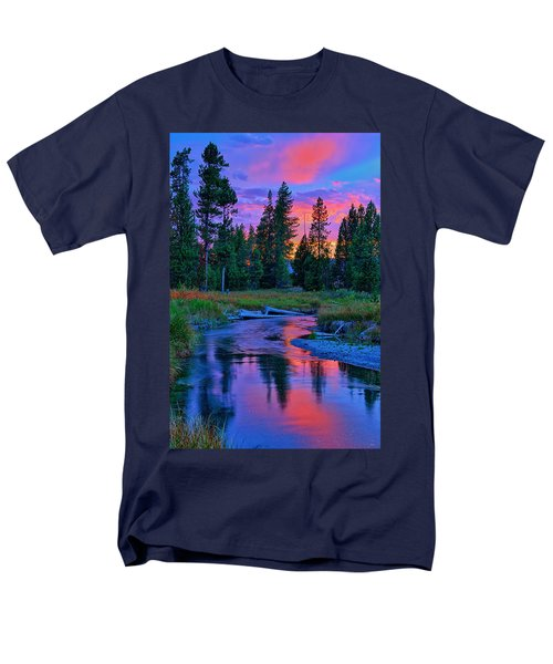 Men's T-Shirt  (Regular Fit) featuring the photograph Sunset On Lucky Dog Creek by Greg Norrell