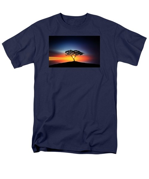 Sunset On The Tree Men's T-Shirt  (Regular Fit) by Bess Hamiti