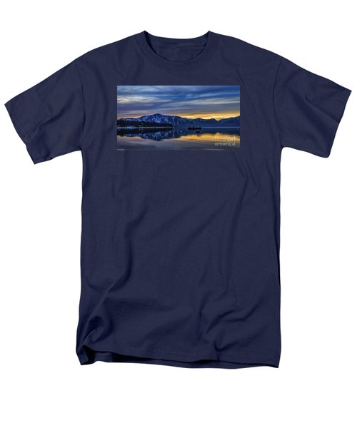 Sunset Timber Cove Men's T-Shirt  (Regular Fit) by Mitch Shindelbower