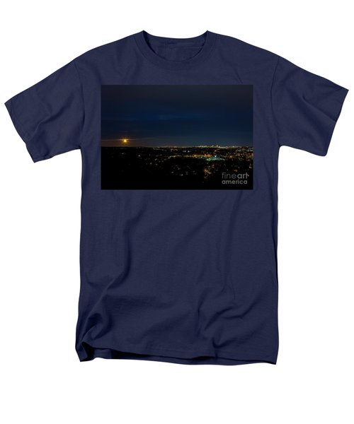 Super Moon 2016 Rises Over Boston Massachusetts Men's T-Shirt  (Regular Fit) by Diane Diederich
