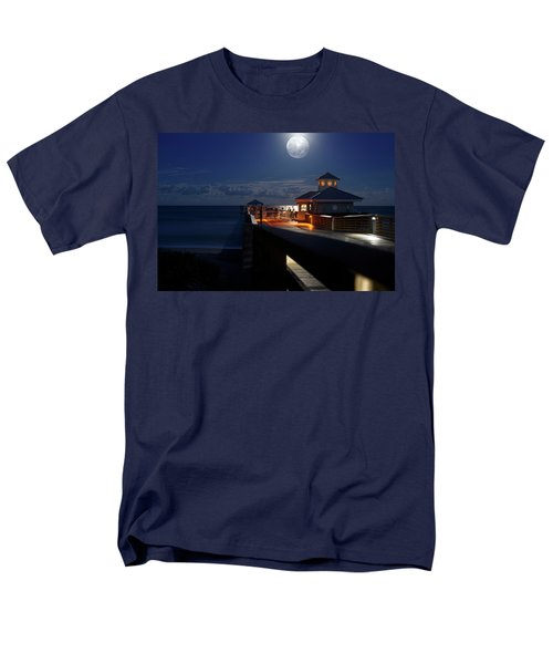 Men's T-Shirt  (Regular Fit) featuring the photograph Super Moon At Juno Pier by Laura Fasulo