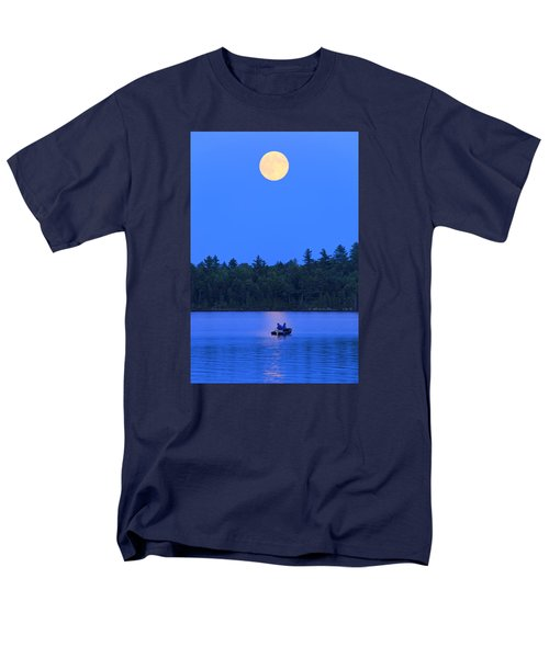 Men's T-Shirt  (Regular Fit) featuring the photograph Super Moon At The Lake by Barbara West