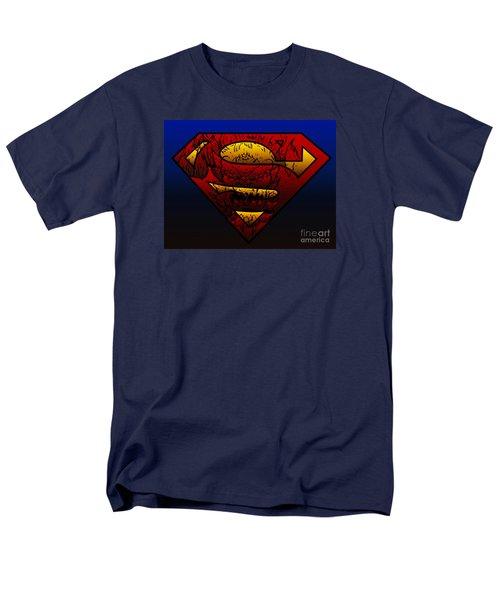 Superman Doomsday Shield  Men's T-Shirt  (Regular Fit) by Justin Moore