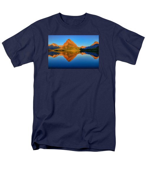Men's T-Shirt  (Regular Fit) featuring the photograph Swiftcurrent Morning Reflections by Greg Norrell