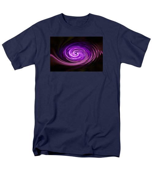 Men's T-Shirt  (Regular Fit) featuring the photograph Swirling Zig Zag Abstract by Penny Lisowski