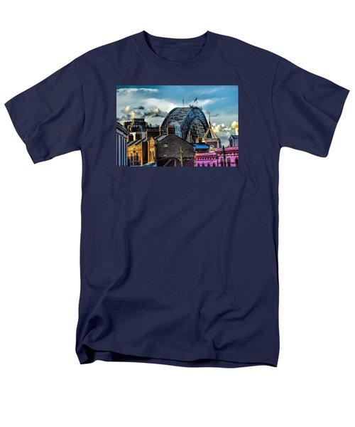 Sydney Harbor Bridge Men's T-Shirt  (Regular Fit) by Diana Mary Sharpton