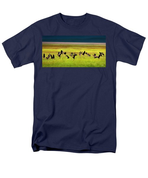 Men's T-Shirt  (Regular Fit) featuring the photograph Take Off by Leland D Howard
