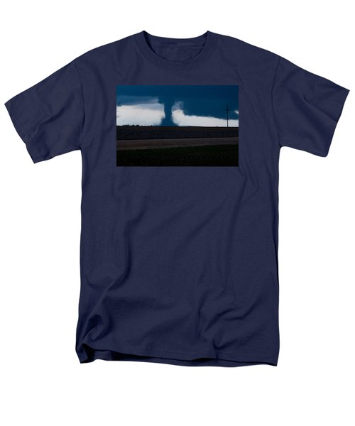 Terror On The Horizon In Western Kansas Men's T-Shirt  (Regular Fit) by Shirley Heier
