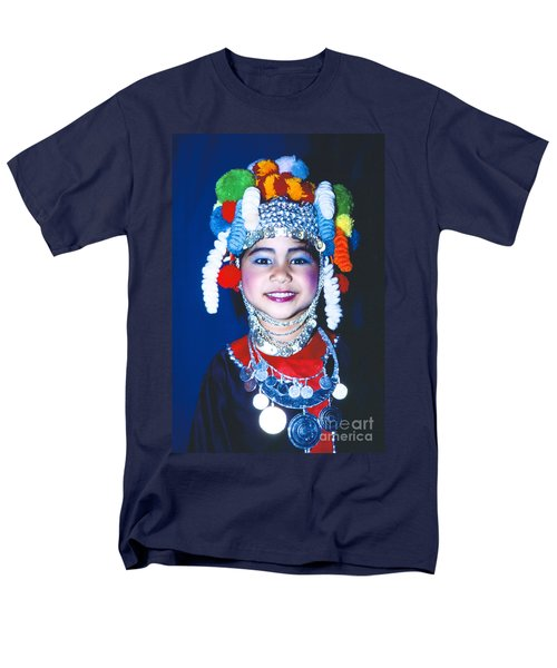 Men's T-Shirt  (Regular Fit) featuring the photograph Thai Girl Traditionally Dressed by Heiko Koehrer-Wagner