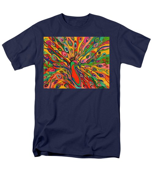 That Bloomin Peacock Men's T-Shirt  (Regular Fit) by Alison Caltrider