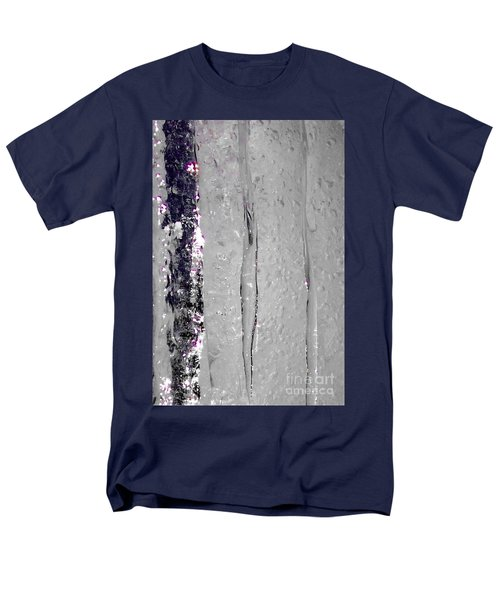The Wall Of Amethyst Ice  Men's T-Shirt  (Regular Fit) by Jennifer Lake