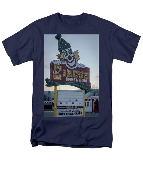 Men's T-Shirt  (Regular Fit) featuring the photograph The Circus Drive In Sign Wall Township Nj by Terry DeLuco
