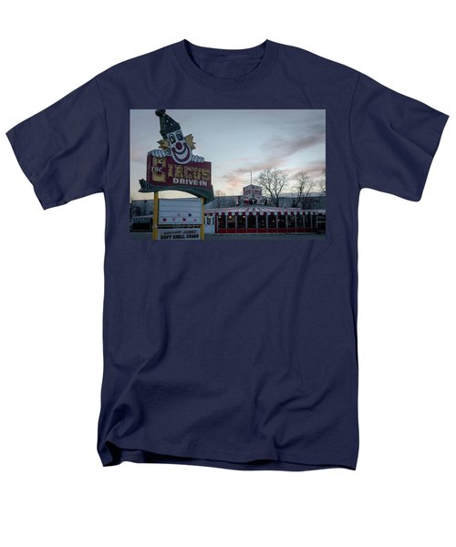 Men's T-Shirt  (Regular Fit) featuring the photograph The Circus Drive In Wall Township Nj by Terry DeLuco