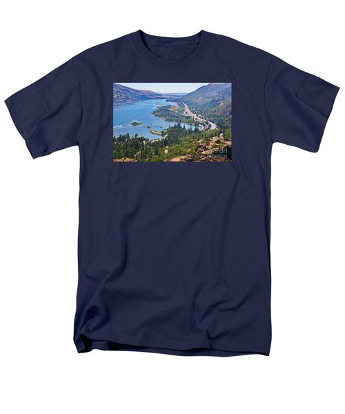 The Columbia River In The Gorge Men's T-Shirt  (Regular Fit) by Ansel Price