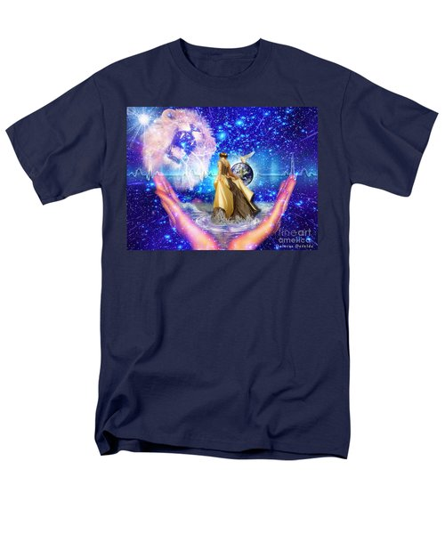 Men's T-Shirt  (Regular Fit) featuring the digital art The Depth Of Gods Love by Dolores Develde