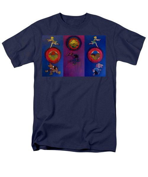 Men's T-Shirt  (Regular Fit) featuring the painting The Fruit Machine Stops II by Charles Stuart