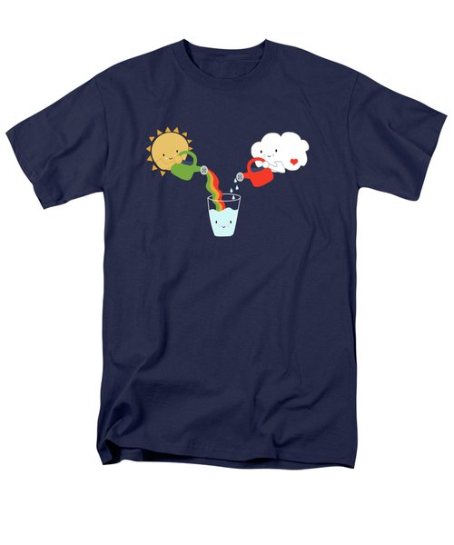 The Glass Is Refillable Men's T-Shirt  (Regular Fit) by Kathrin Legg