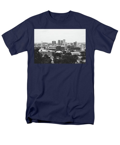 Men's T-Shirt  (Regular Fit) featuring the photograph The Magic City In Monochrome by Shelby Young