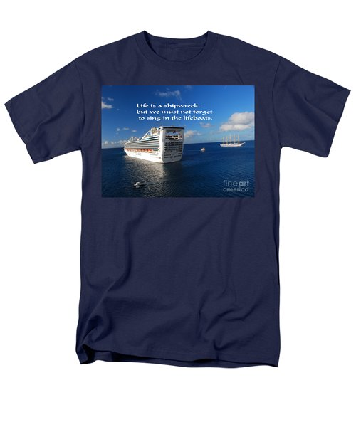 Men's T-Shirt  (Regular Fit) featuring the photograph The Meaning Of Life by Gary Wonning