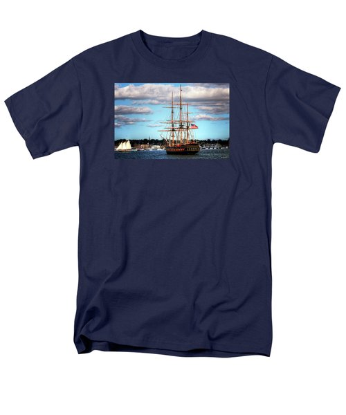Men's T-Shirt  (Regular Fit) featuring the photograph Tall Ship The Oliver Hazard Perry by Tom Prendergast