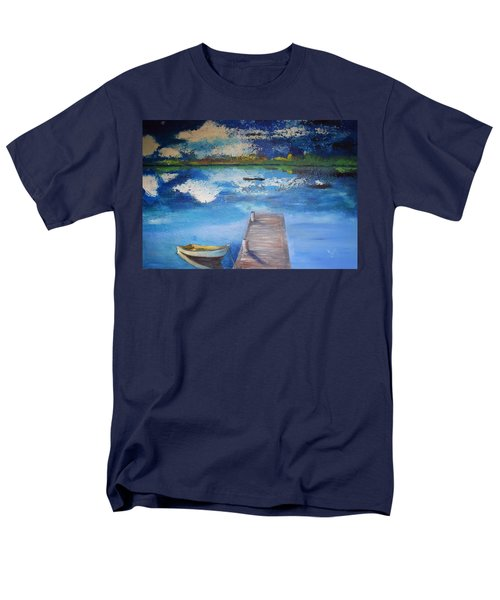 Men's T-Shirt  (Regular Fit) featuring the painting The Rowboat by Gary Smith