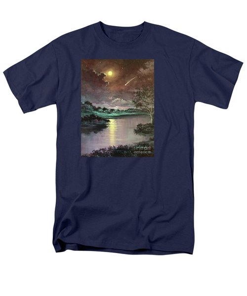 The Silence Of A Falling Star Men's T-Shirt  (Regular Fit) by Randy Burns