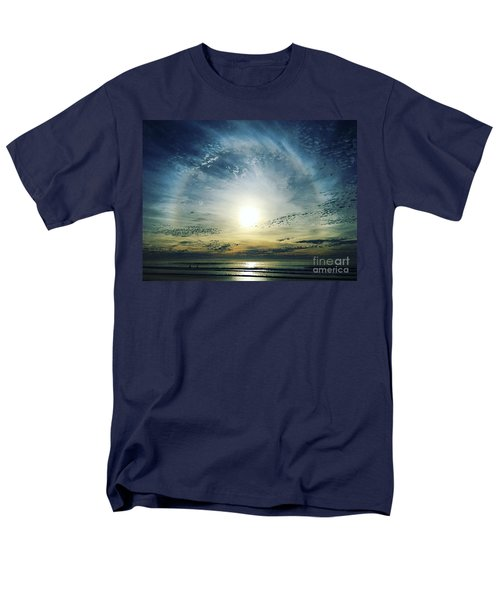 The Voice Of The Lord Is Over The Waters... Men's T-Shirt  (Regular Fit) by Sharon Soberon