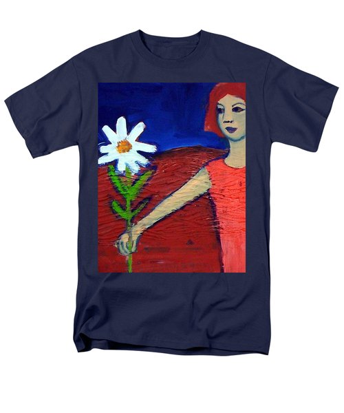 Men's T-Shirt  (Regular Fit) featuring the painting The White Flower by Winsome Gunning