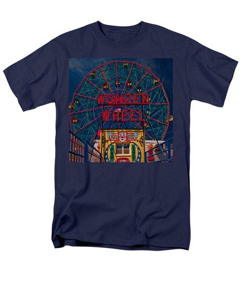 The Wonder Wheel At Luna Park Men's T-Shirt  (Regular Fit) by Chris Lord